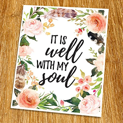 amazon com it is well with my soul print unframed watercolor
