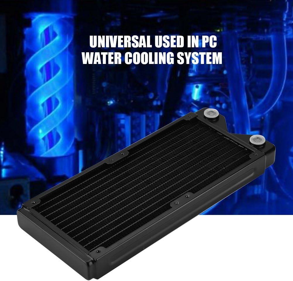 Fishlor Computer Heat Sink Water Cooling Kit 120 G1//4 Copper Water Heat Radiator Exchanger Water Cooling Computer Heat Sink