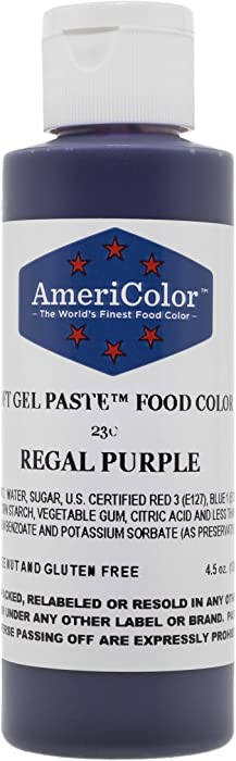 Americolor Soft Gel Paste Food Color, 4.5-Ounce, Regal Purple