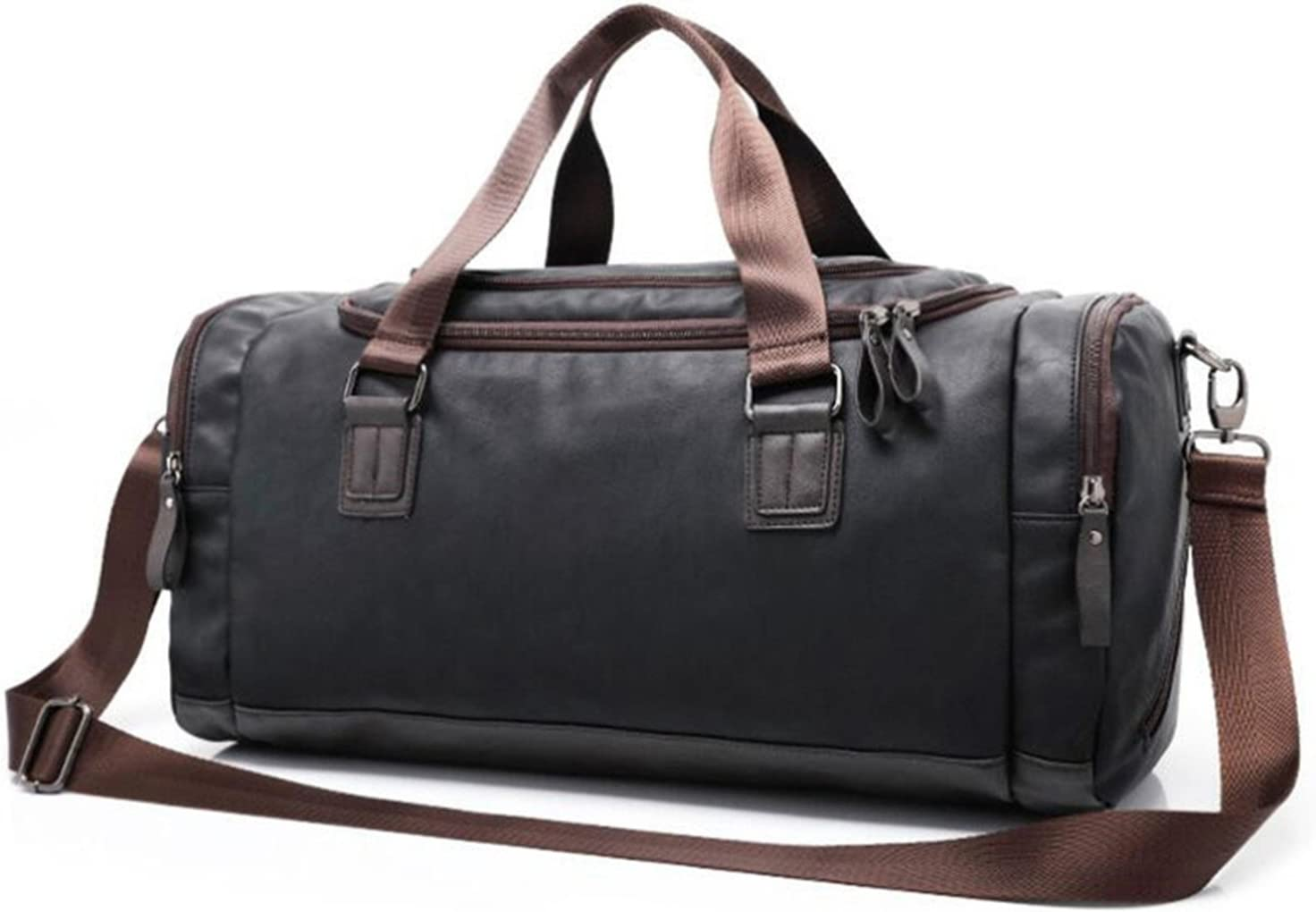 Paddy Meredith Hot Men Large Pu Leather Sports Gym Bag Fitness Training Yoga Bags Duffel Tote Travel Handbag Male Outdoor Shoulder Bag 2