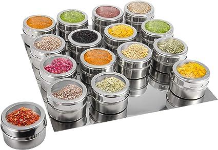 16 Magnetic Spice Jars