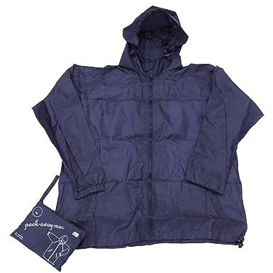 Mens Hooded Packaway Mac Raincoat Jacket  Amazon.co.uk  Clothing 0c59af99b8