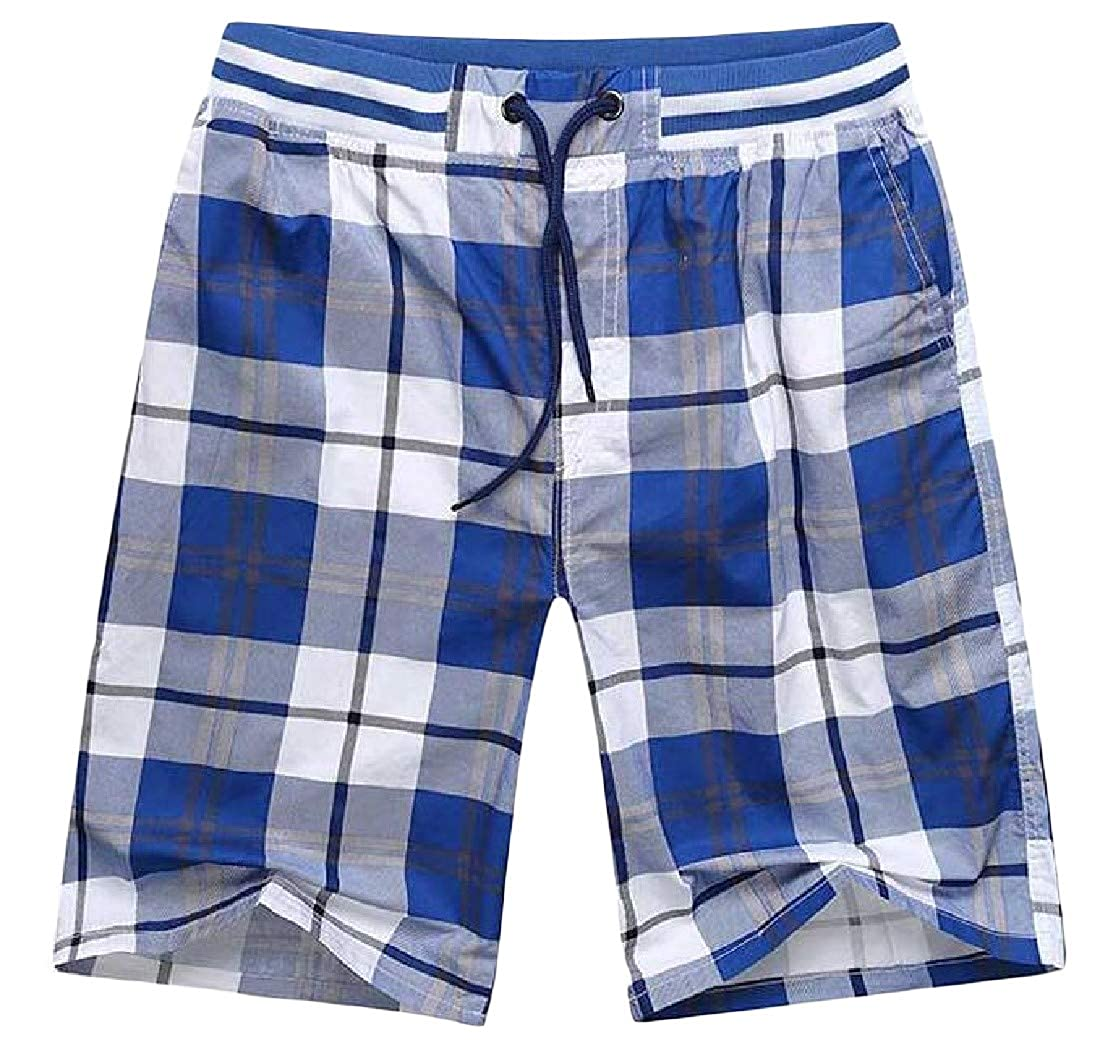 Etecredpow Men Surf Casual Beach Breathable Straight Leg Wicking Shorts