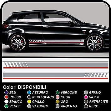 Aufkleber Kit Stickers Für Autos Racing Seitenstreifen Decals Stickers Silber Und Rot Auto