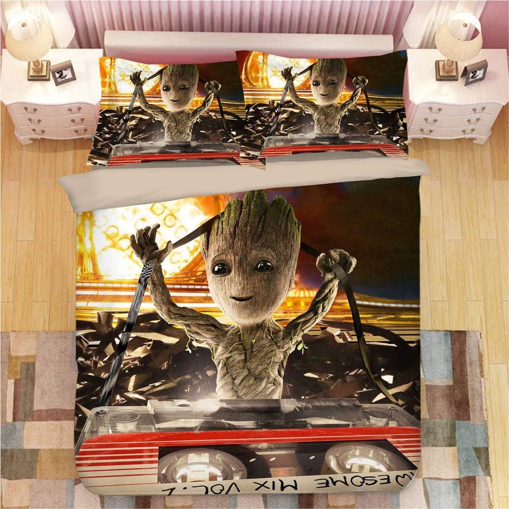 Marvel Groot Duvet Cover 2 Pillowcase Twin Full Queen King Size