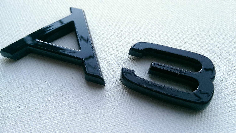 Noir Brillant 80mm x 30mm Arri/ère Boot Lid Tailgate Trunk Badge Embl/ème Pour A3