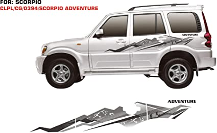 Automaze Car Side Decal Full Body Sticker Graphics For Scorpio All