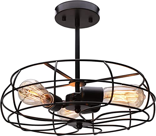 CO-Z 3 Light Industrial Cage Ceiling Light