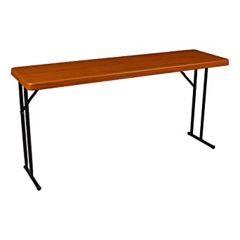 Norwood Commercial Furniture NOR WOB1872WG SO Wood Grain Blow Molded Plastic  Training Table