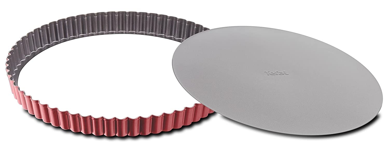 Tefal j1641514Obstkuchenform, mit Herausnehmbarem Boden, Stahl, rot, 30cm 30cm