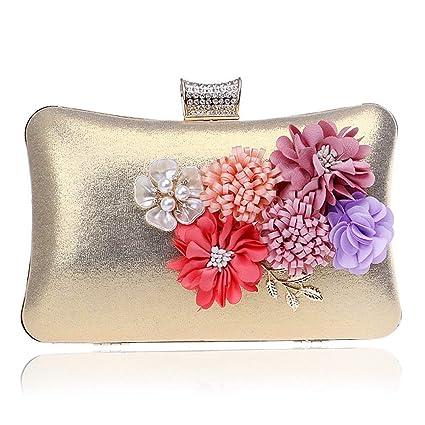 4b12a4d3cc4 Handbag Purse Appliques Fashion Candy Color Evening Bags Beaded Leaf Fower  Lady Evening Bag Girl's Day