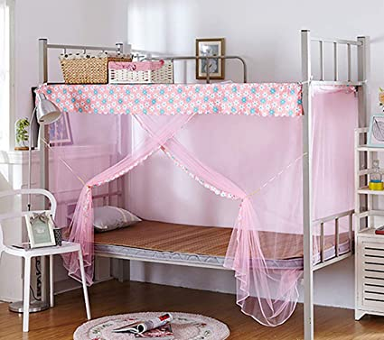 Bunk Bed Encryption Nets Bed Canopy Square Student Dorm Netting Blackout Curtains Anti Mosquito Tent With Dustproof Top And Anti Mosquito Cloth Layer Tofover Dormitory Mosquito Net Bedding Accessories Baby Products Umoonproductions Com