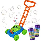 MOZOOSON Gifts for Kids, Bubble Machine Bubble Mower for Toddlers, Kids Bubble Lawn Blower Machine with 2x118ml Bubble…