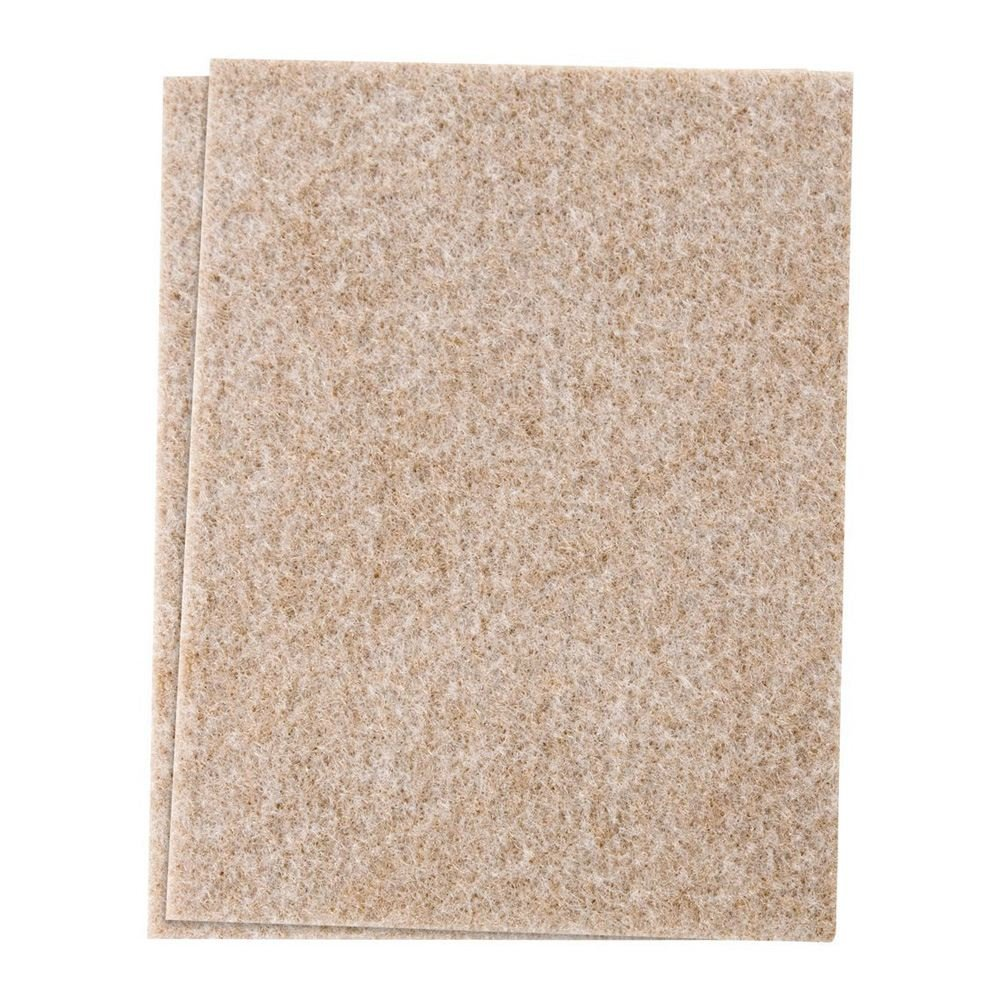 SODIAL(R) Self-Stick Furniture Felt Sheet for Hard Surfaces to Cut into Any Shape (2 pack) Beige