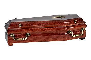 Hermosa caja de madera caja de cremación cenizas urna de adulto y infantil, adulto Funeral urna: Amazon.es: Jardín