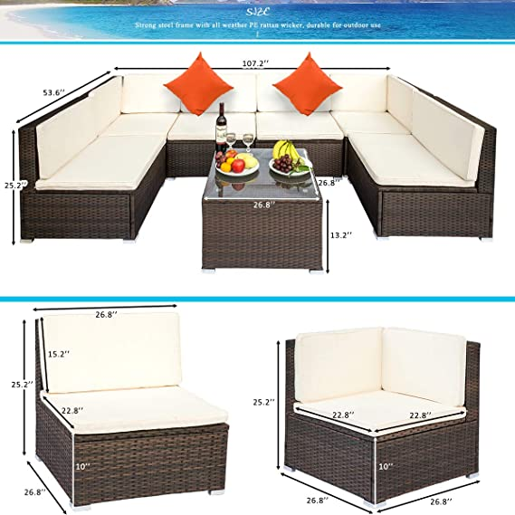 Amazon.com: LZ LEISURE ZONE Juego de muebles de patio de ...
