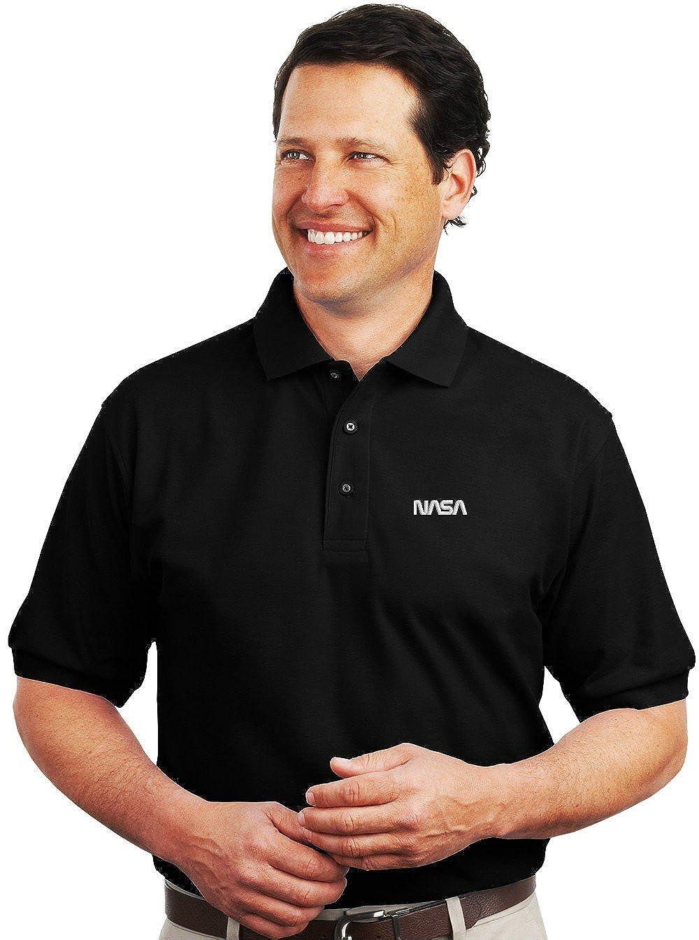 Spiffy Custom Gifts Mens U.S Navy Logo Embroidered Polo Shirt