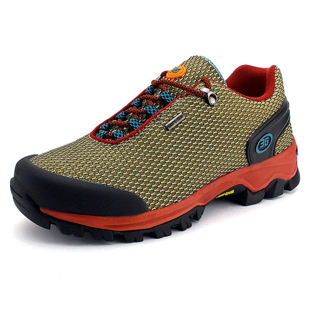Herren Wanderschuhe Rundzehen Trekking Sportlich Outdoor Klassische Gummi Sohle Dämpfung Entspannt Strapazierfähig Anti-Rutsch Flexibel Outdoorschuhe
