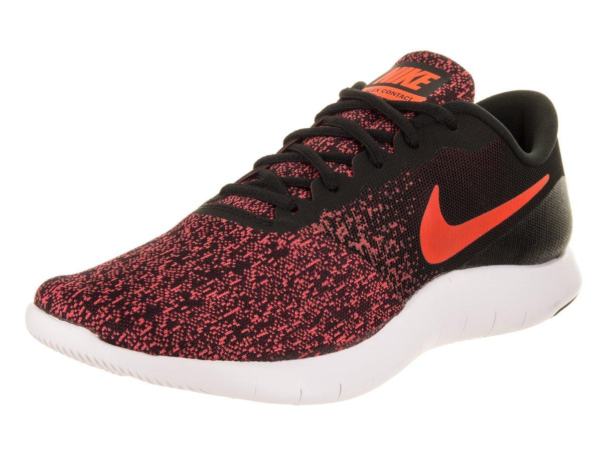 NIKE Men's Flex Contact Running Shoe B072JW43D8 9.5 D(M) US|Black / Total Crimson-gym Red