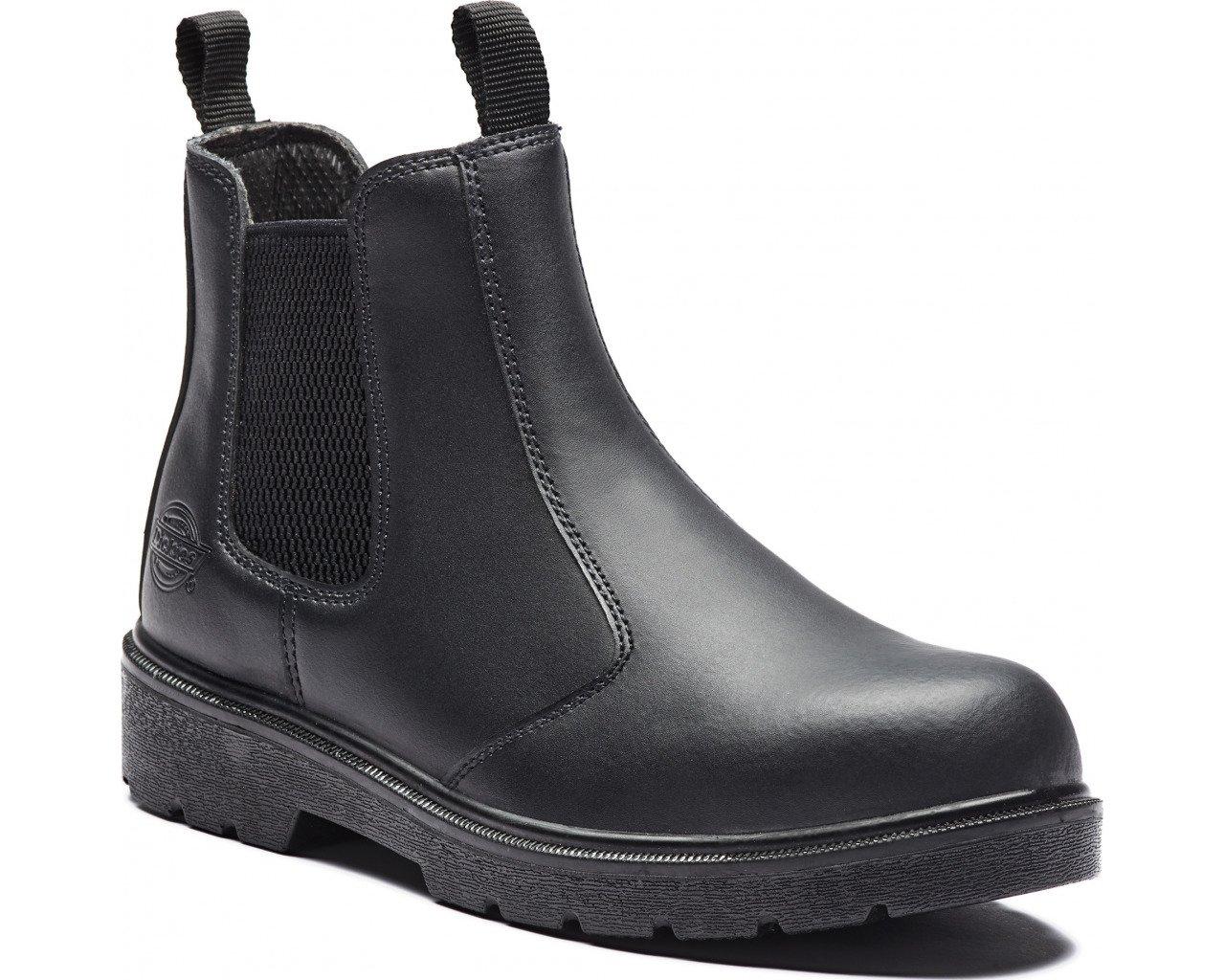 Dickies fa23345-bk-8 Super Safety Schwarz Dealer Boot, Größe 8, Schwarz Safety - 64fd83