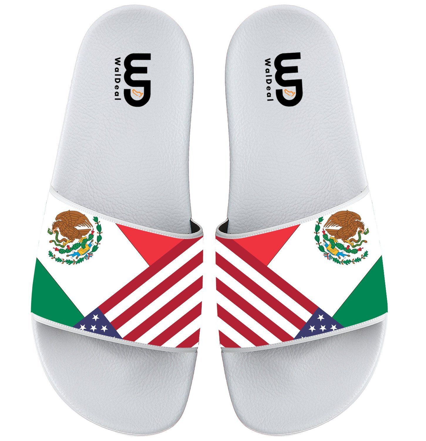 Mexican Flag Summer Non-slip Slide Sandals Home Shoes Beach Swim Flip Flops Indoor and Outdoor Slipper Women Men B075FM1FF8 8 B(M) US|American Flag