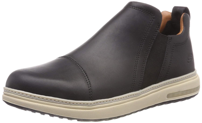 Skechers Folten-Orego, Zapatillas para Hombre 41.5 EU|Negro (Black Blk)