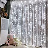 Led Curtain String Light USB with Remote perfer for Bedroom Wedding Party Window Decorate (Cool White)