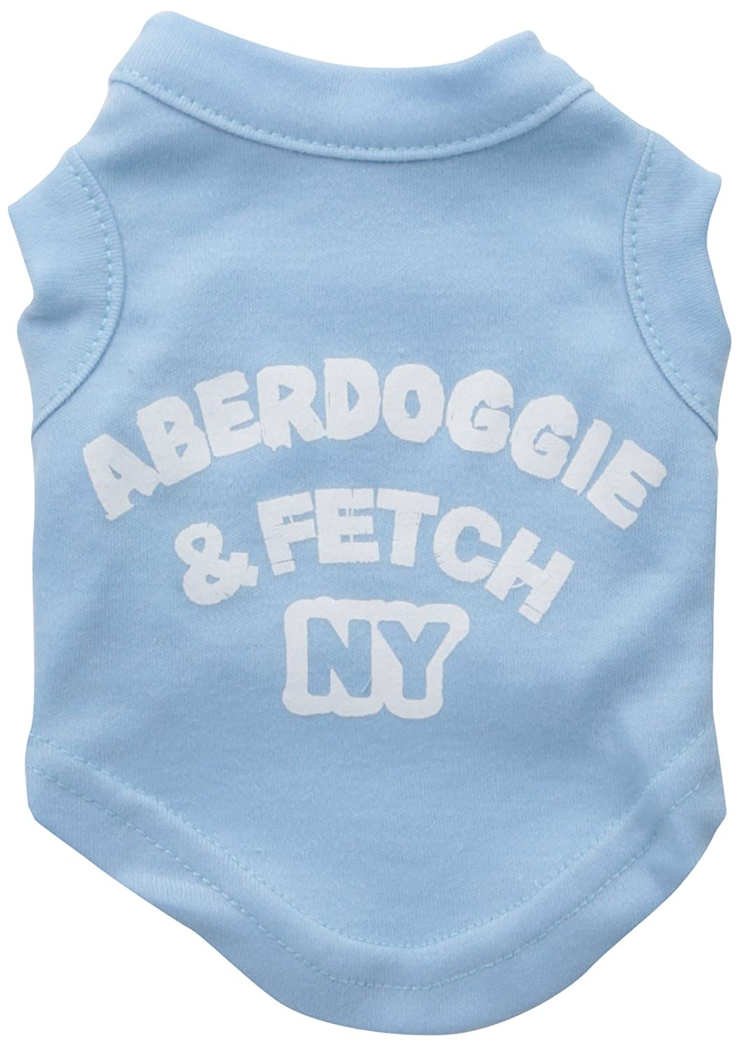 Baby bluee Mirage Pet Products 8-Inch Aberdoggie NY Screenprint Shirts, X-Small, Baby bluee