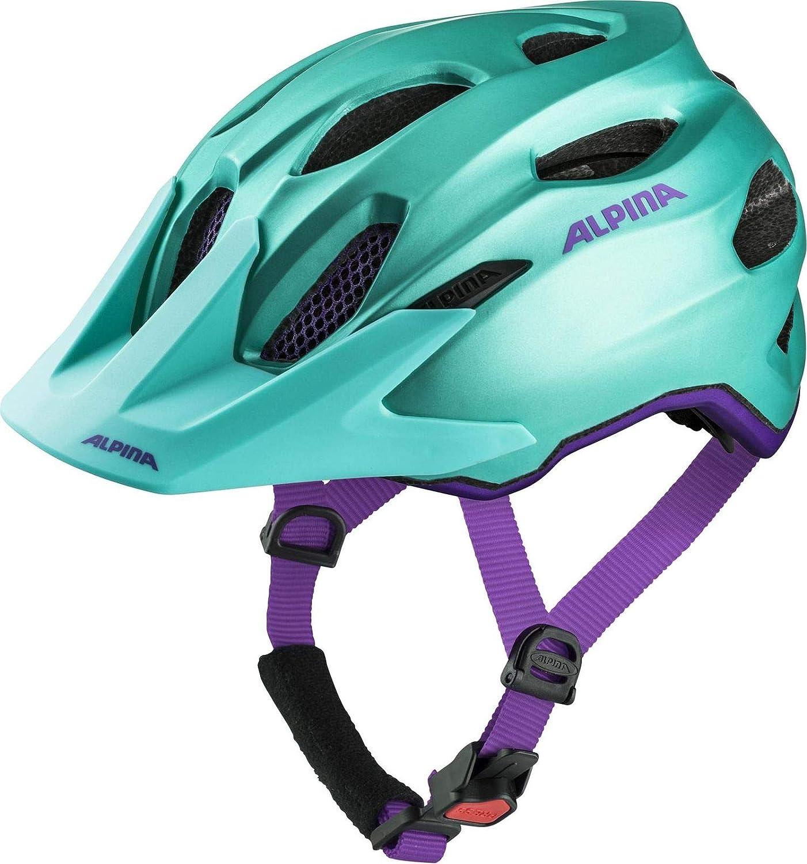 ALPINA Carapax Jr. Fahrradhelm - smaragd-Violet