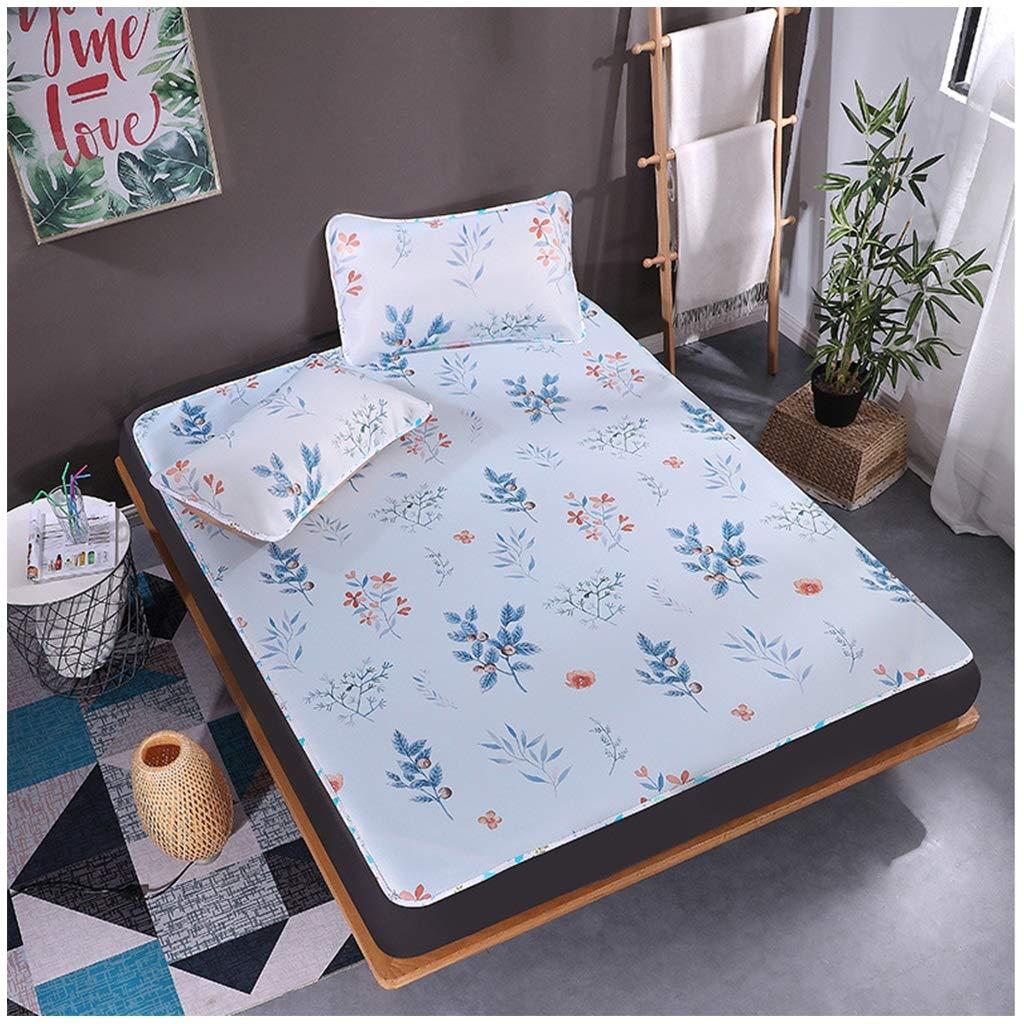 QNJM Sommerkühlung Soft-Pad, Bedruckte Ice Silk Mats, Umweltfreundliche Cartoon-Matten Im Sommer, 7 Ausführungen Erhältlich (Farbe   A, größe   1.8m Bed) G 1.2m bed