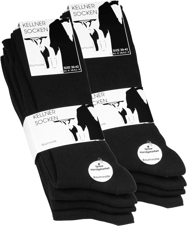 10 pares Calcetines opacas para hombre - Básico - Negro - 100 ...
