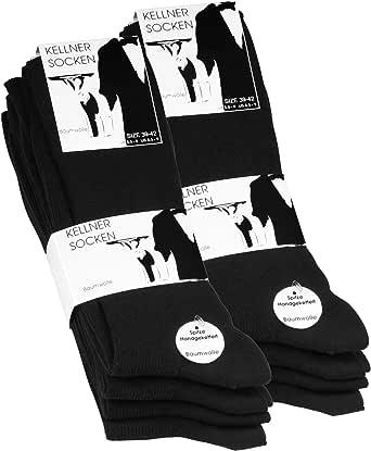 10 pares Calcetines opacas para hombre - Básico - Negro - 100% algodon: Amazon.es: Ropa y accesorios