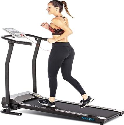 Folding Electric Treadmill Running Walking Cardio LCD Machine Gym Fitness Black