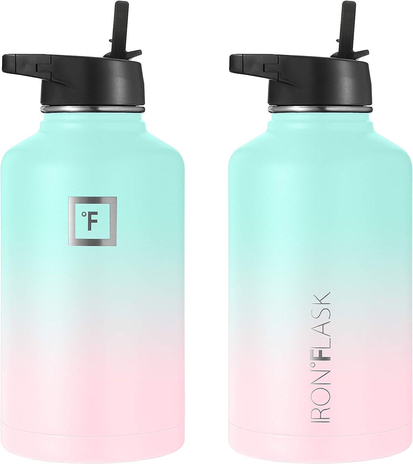 Straw Lid 14Oz,18Oz,22Oz,32Oz,40Oz,64Oz,3 Lids Iron Flask Sports Water Bottle