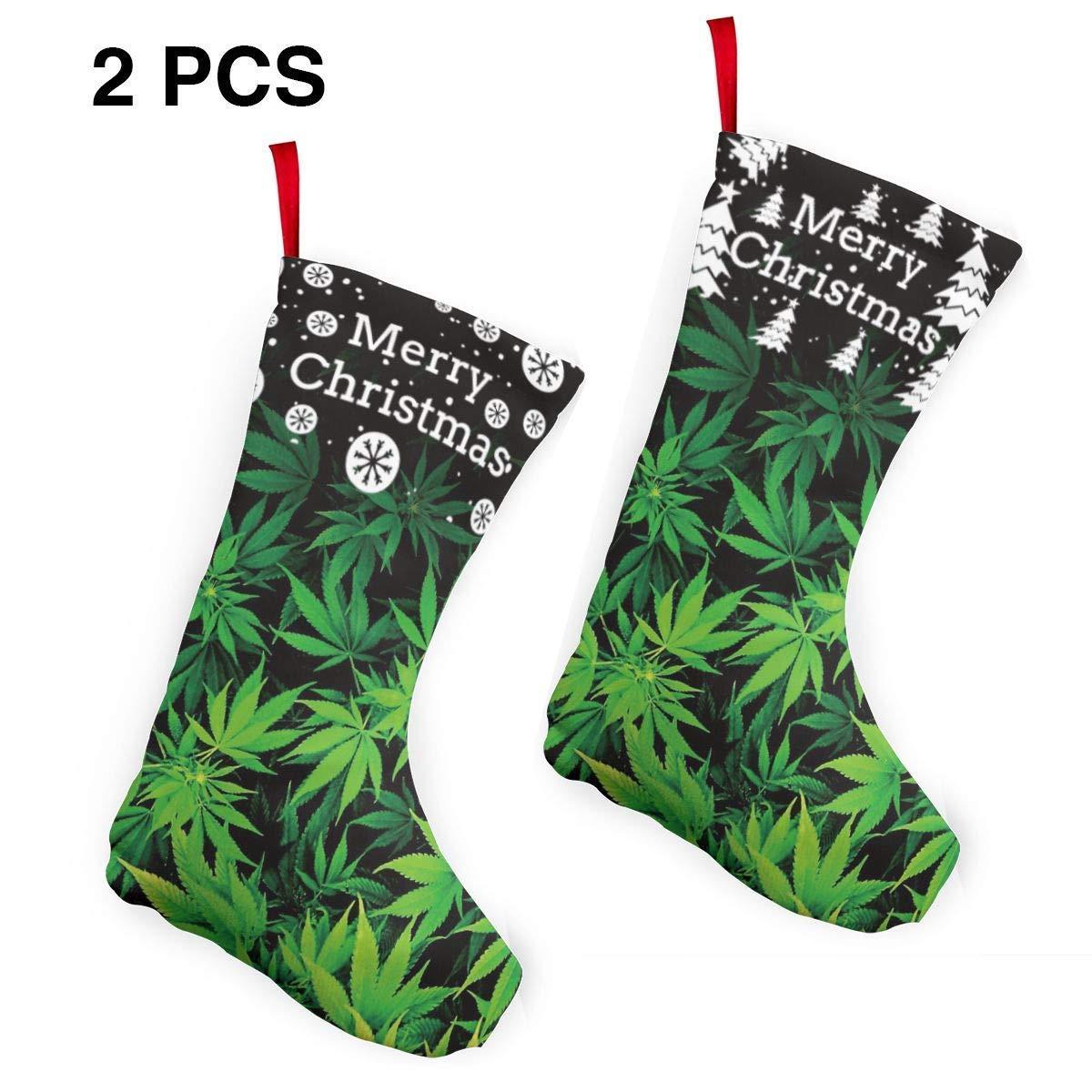 Amazon Com Marijuana Weed Leaves Green Christmas Stocking
