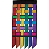In the Breeze Rainbow Weave House Banner with Tails