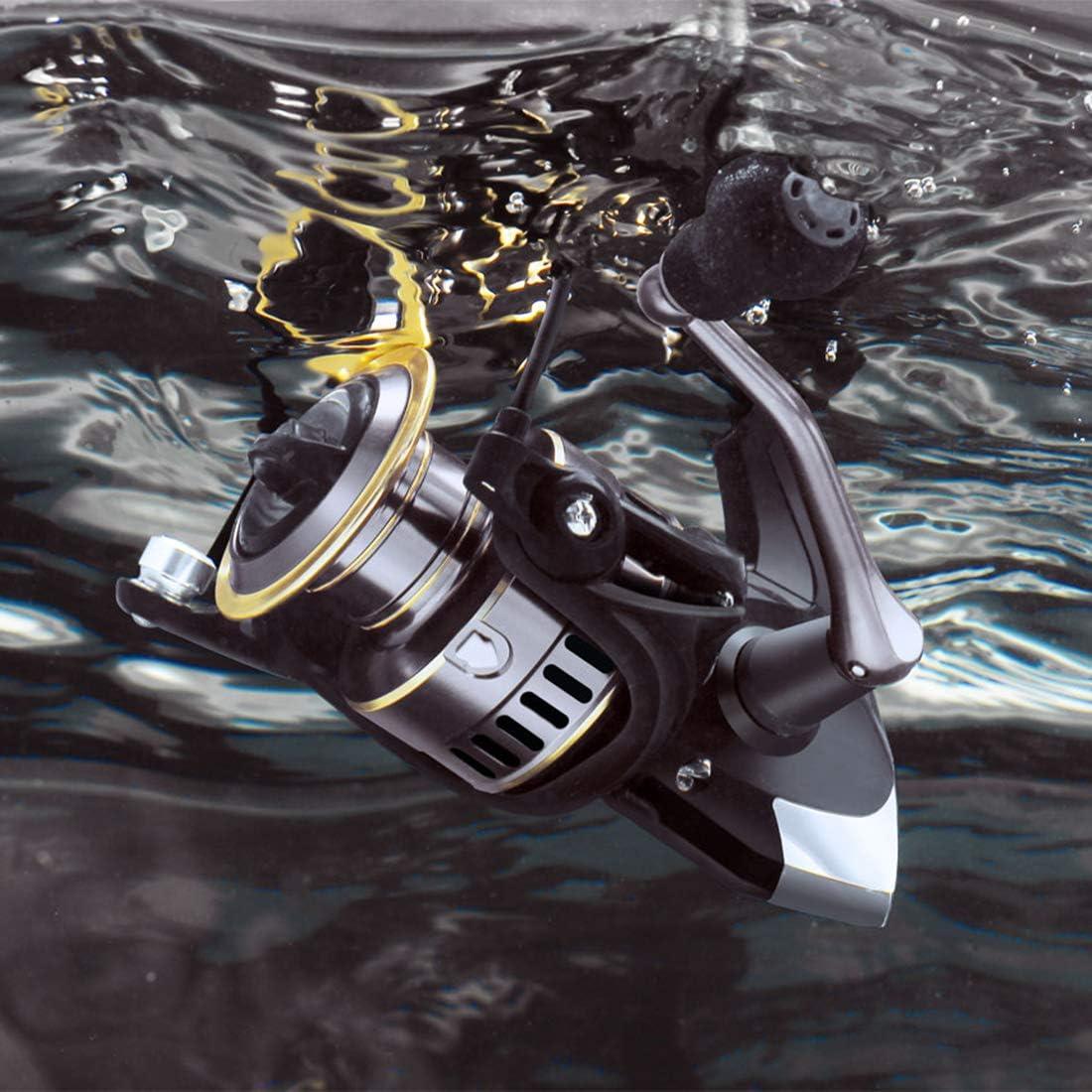 Carrete de pesca 5,2: 1, 10 kg, con rodamientos de larga duraci/ón y potente sistema de frenado para agua salada o agua dulce Baitcasting