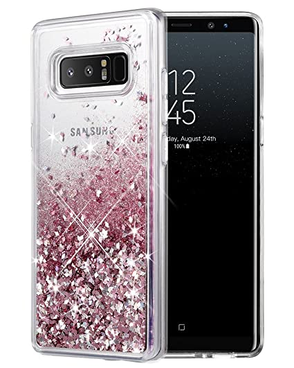 wholesale dealer a94dd 02867 Galaxy Note 8 Case, Caka Galaxy Note 8 Glitter Case Girls Luxury Fashion  Bling Flowing Liquid Floating Sparkle Glitter Cute Soft TPU Case for  Samsung ...