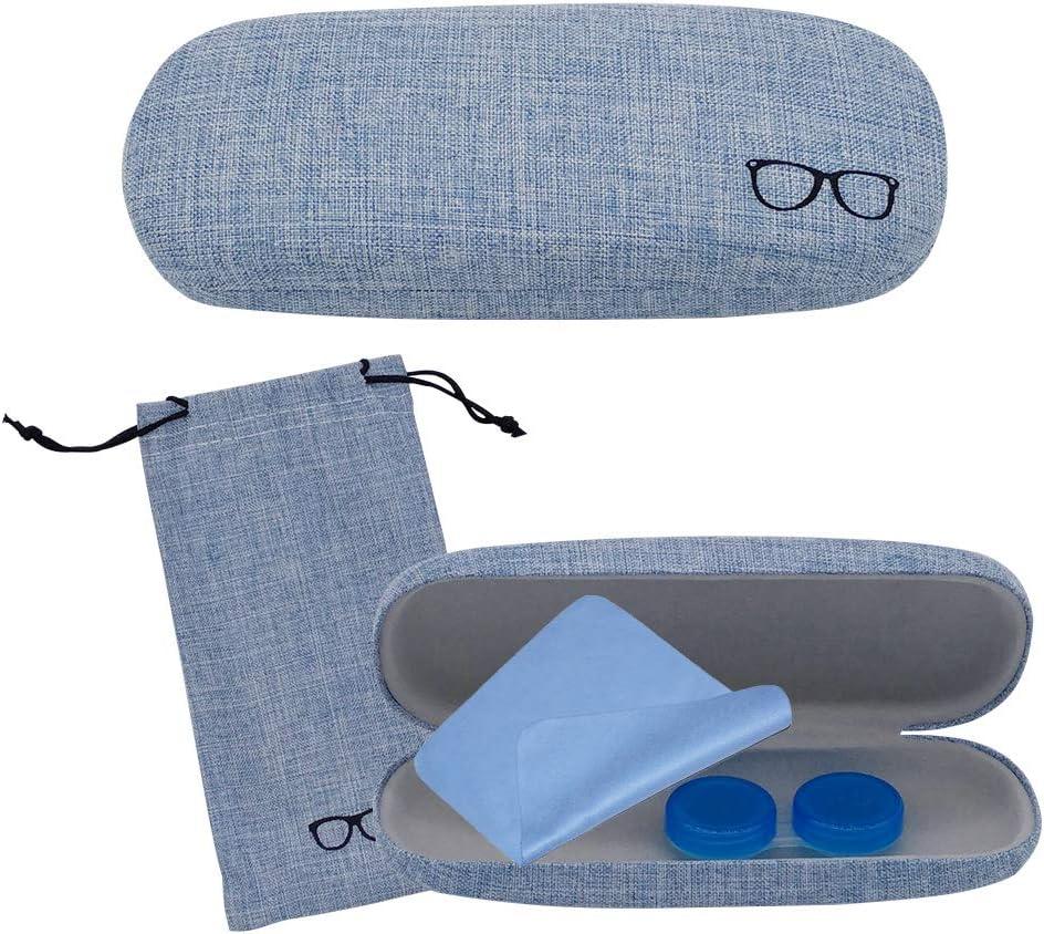 Fundas de Gafas Mujer, Lindo Estuche de Lentes Azul Niñas Hombres con Estuche Lentes de Contacto, Paño de Limpieza para Lentes, Color Aleatorio Estuche para Lentes de Contacto, 4 Piezas: Amazon.es: Deportes