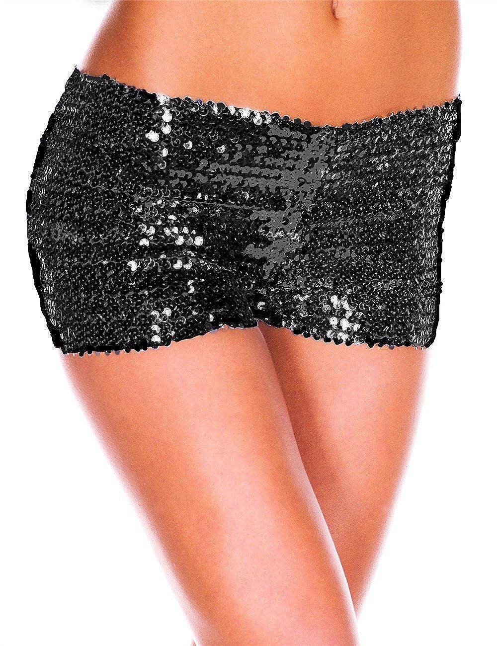 CLOUDY.LEE Women's Elastic Jazz Sequin Pants Briefs-underwear Black 145 One Size