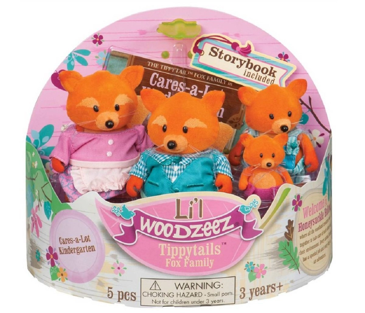 Amazon Lil Woodzeez Fox Family Set With Storybook Toys Games