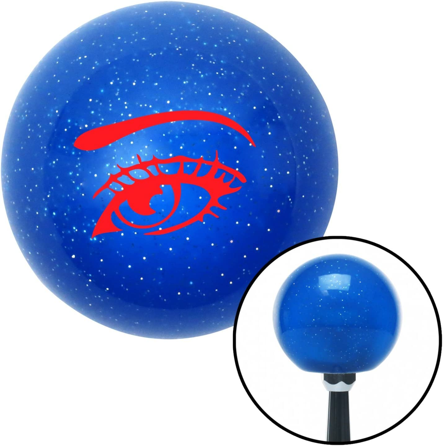 Red Womans Eye American Shifter 23133 Blue Metal Flake Shift Knob