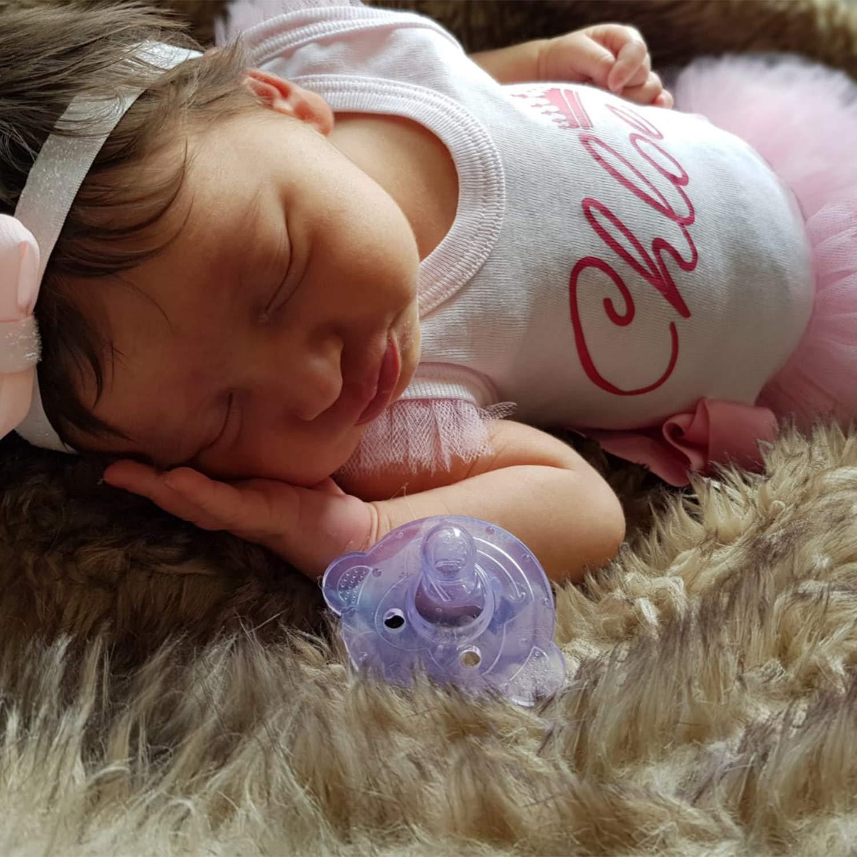 Momcozy Chupetes para Bebés con Forma de Monito, 2 Paquetes, Hechos de Silicona LIBRE de BPA, con 2 Cordones + 2 Estuches de Viaje Esterilizable (3M ...