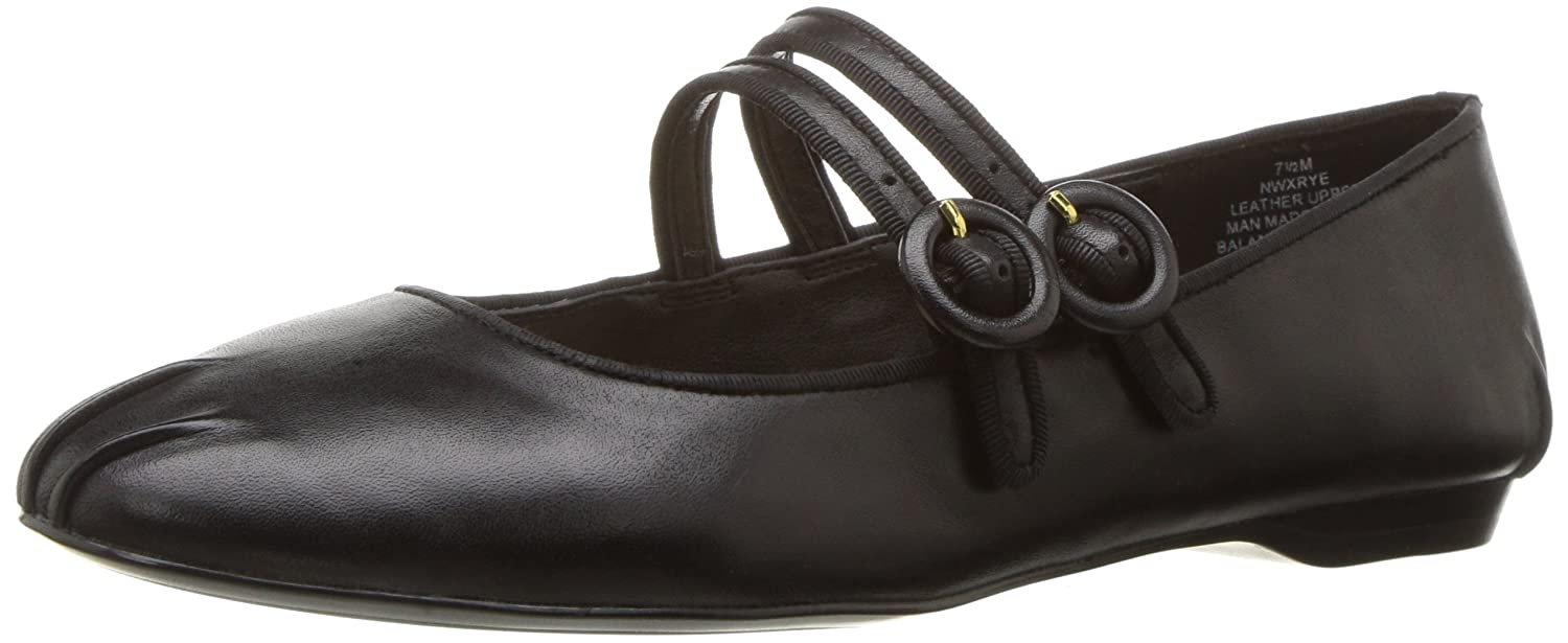 Nine West Women's Xrye Leather Ballet Flat B01MUT97XI 6 B(M) US|Black