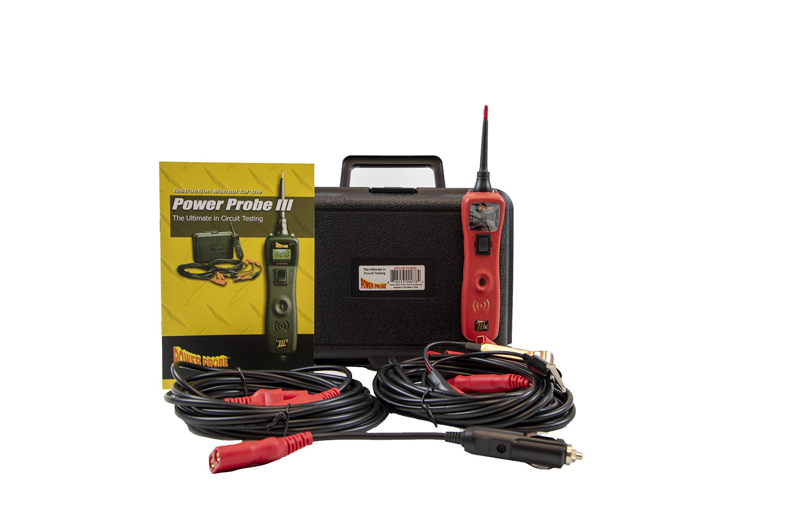 Diesel Laptops Power Probe 3 (III) Red Big Display Circuit Tester Kit in Case with 12-Months of Truck Fault Codes by Diesel Laptops (Image #2)