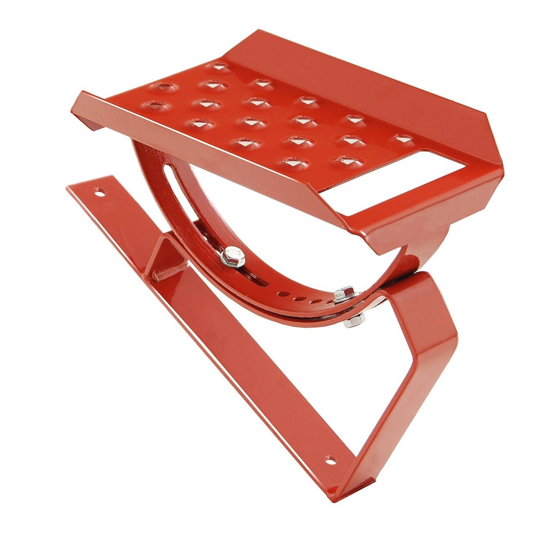 Einzelltritt Dachtritt Steigtritt Podest 25cm Komplett f/ür Plattdach Trapezblech Rot
