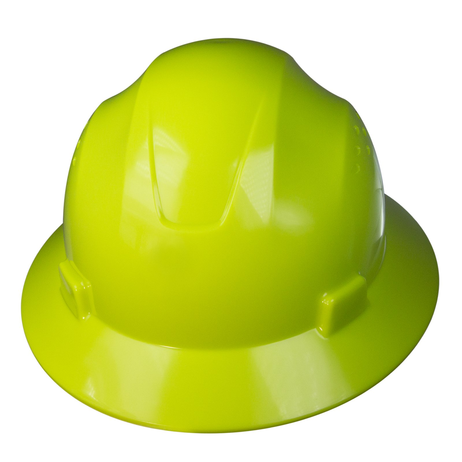 PPE By JORESTECH - HDPE Full Brim Style Hard Hat Helmet w/Adjustable Ratchet Suspension For Work, Home, and General Headwear Protection ANSI Z89.1-14 Compliant (Lime (Hi Vis))