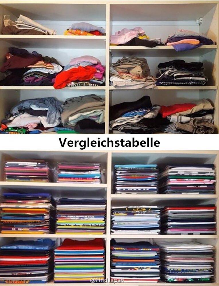 Longwing Closet Ordner Closet Organizer Kleidung Organisation Kleidung【Ordner Regular Size,10-Pack】