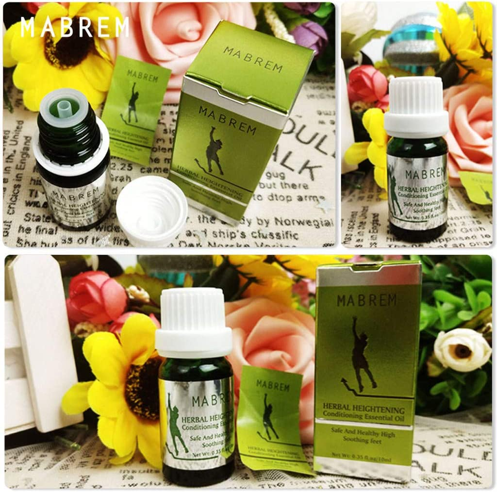 Yemenger Massage Oil Heightening Growth Boosting Essential Oil Soothing Feet Safe Healthy Natural Herbal Plant Extract