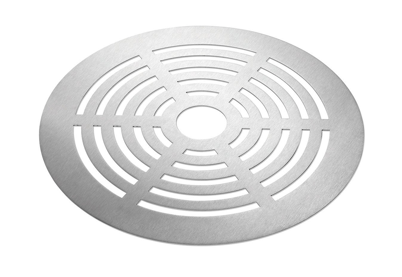 Rosseto SM138 Round Stainless Steel Brushed Grill Top, 16-Inch
